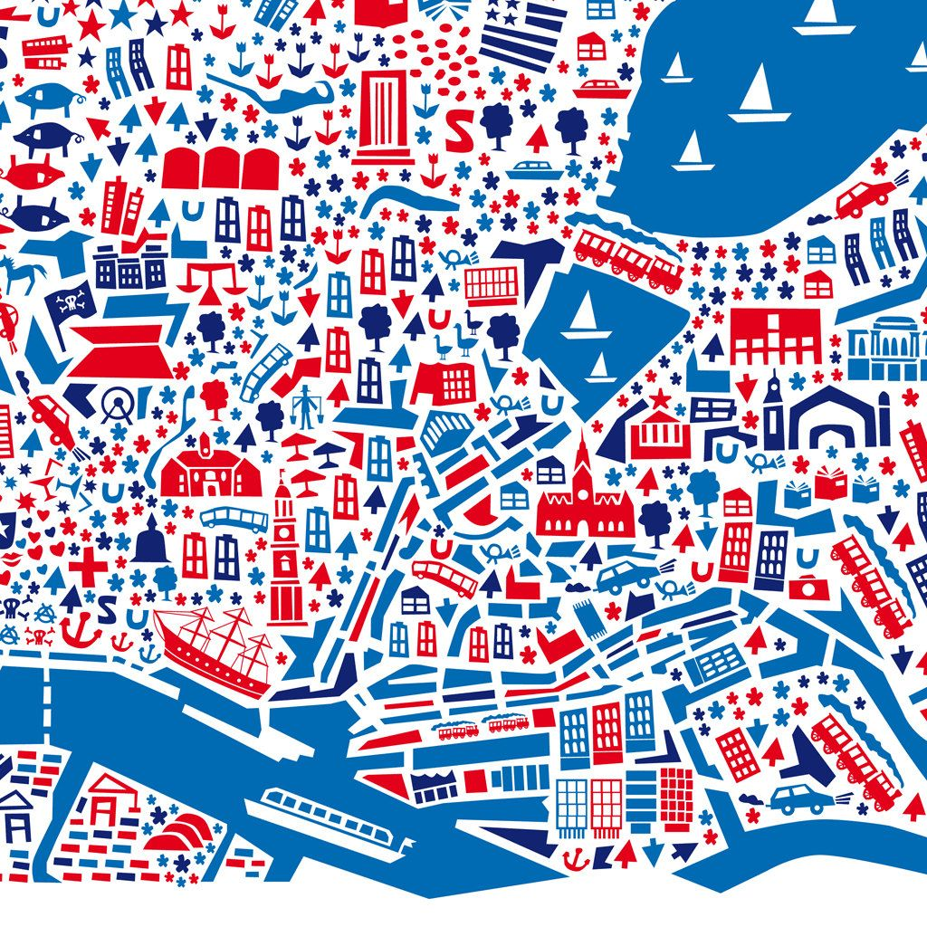 Hamburg Poster City map poster City maps and Hamburg