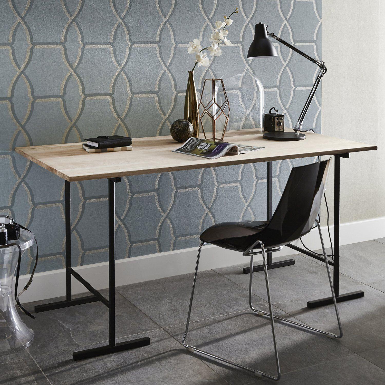Un Bureau Pour Travailler A Domicile Plateau De Table Table Traiteau Treteaux