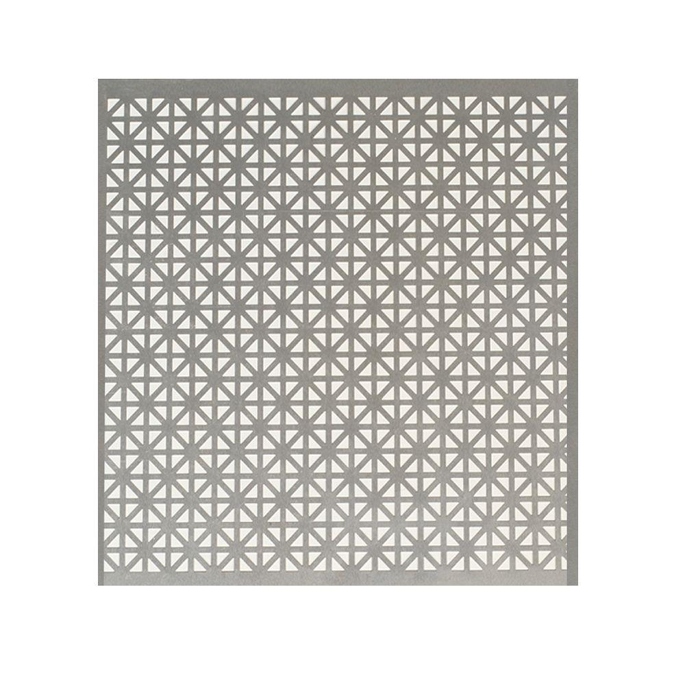 M D Building Products 36 In X 36 In Cloverleaf Aluminum Sheet Silver 57166 The Home Depot In 2020 Metal Sheet Mosaic Designs Colored Aluminum