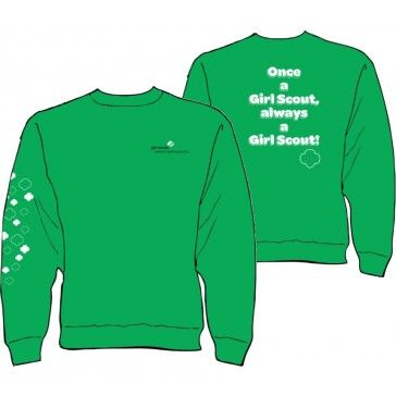 Once a girl scout always a girl scout this new gswpa sweatshirt this new gswpa sweatshirt says it loud and proud on the back trefoils trail down the right sleeve girl scouts western pennsylvania on upper publicscrutiny Gallery