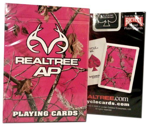 Pink Realtree AP Deck Bicycle Playing Cards Camo Camouflage