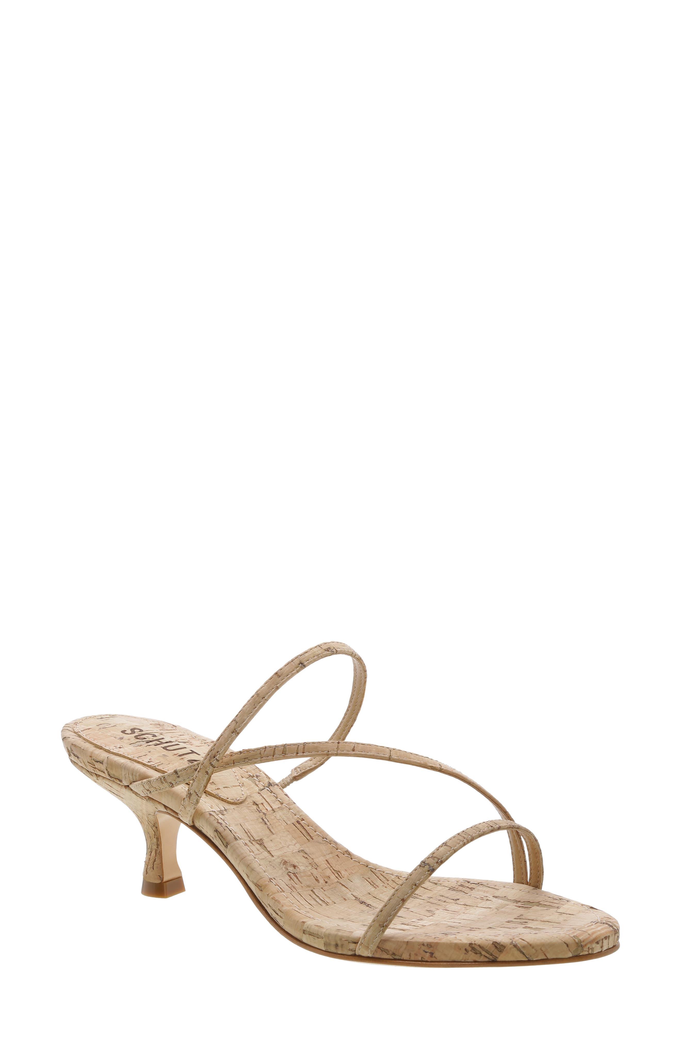 Women S Schutz Evenise Slide Sandal Size 8 M Pink Kitten Heel Sandals Slide Sandals Embellished Sandals
