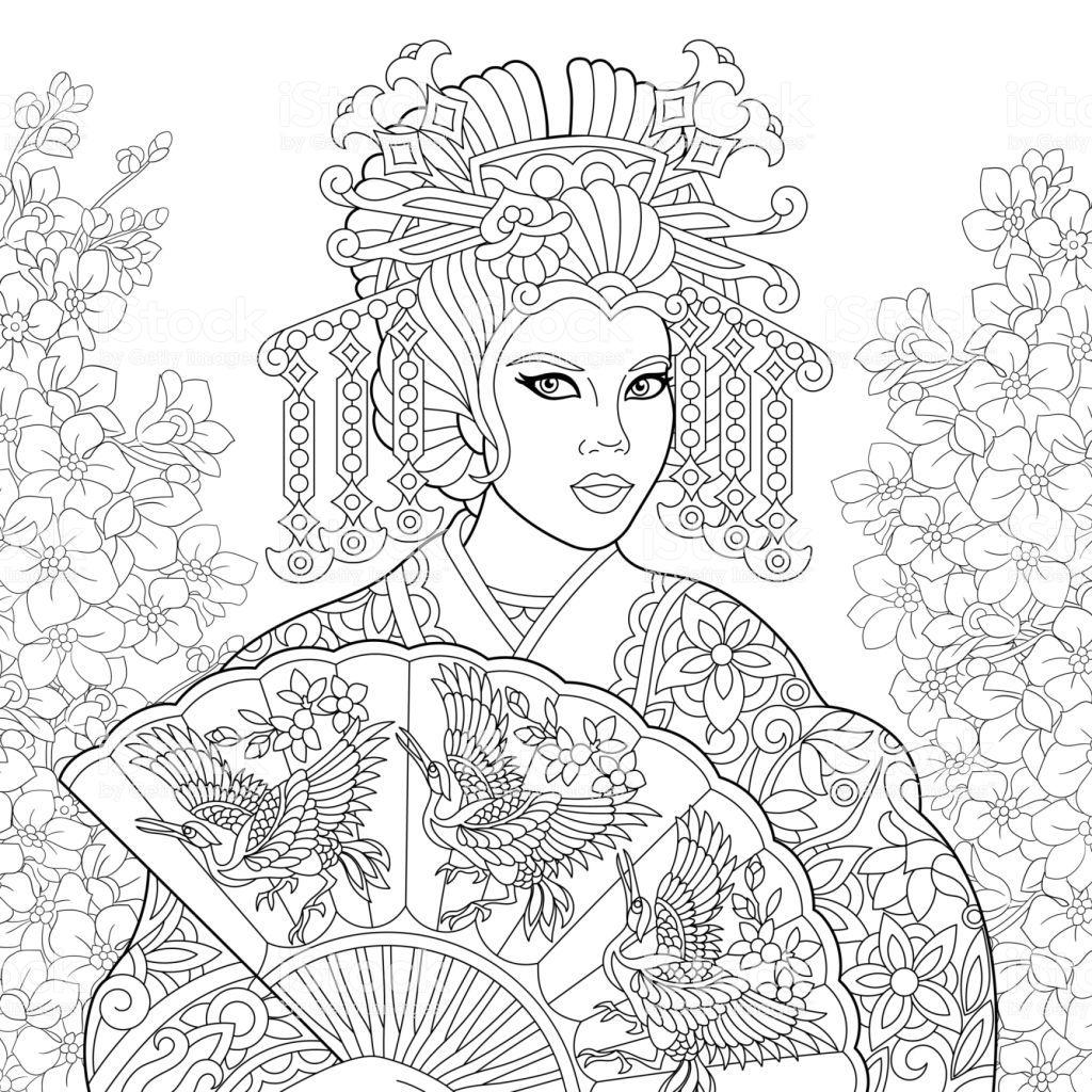 Geisha Fotograf Ve Cizimleri Panosundaki Pin