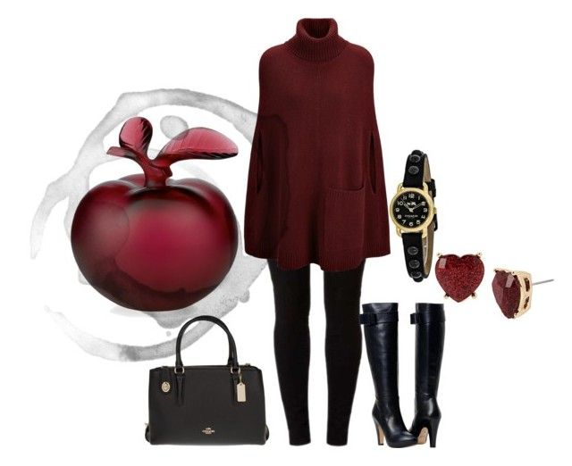 """""""Snow Apple"""" by time2glamup on Polyvore featuring Dorothy Perkins, Joseph, Coach, Lalique and Betsey Johnson"""