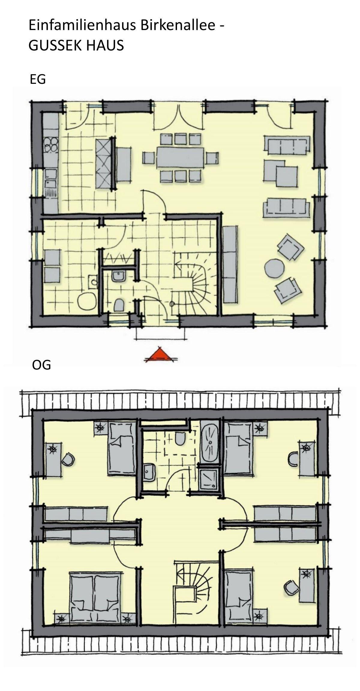 Grundriss Einfamilienhaus Rechteckig Mit Satteldach Architektur Galerie 5 Zimmer 140 Qm Erdgesch Grundriss Einfamilienhaus Einfamilienhaus Haus Grundriss