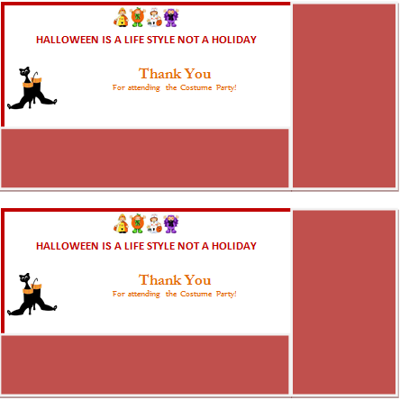 Ms Word Halloween Thank You Card Template Thank You Card Template Thank You Cards Cards