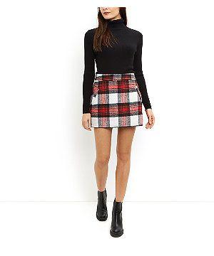 be6d28710 Cameo Rose Red Check Mini Skirt | Pinterest Closet | Check mini ...