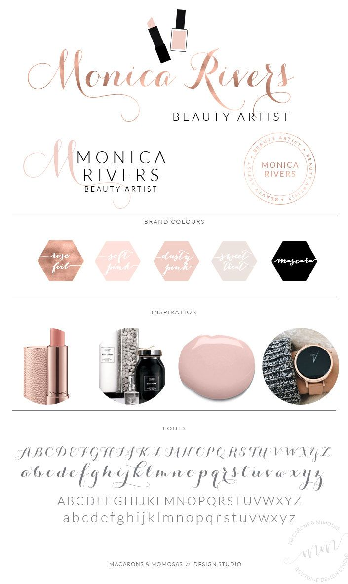 Monica Rivers Logo Set Makeup Artist Logo Makeup Artist