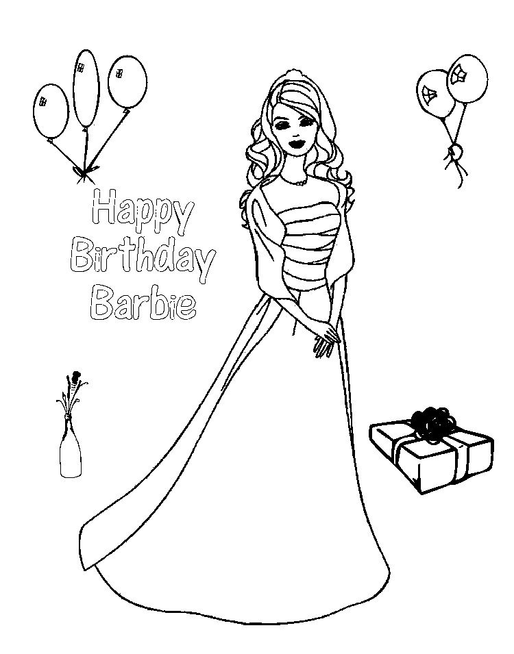 Barbie Birthday Coloring Pages Barbie Coloring Pages Barbie Coloring Birthday Coloring Pages