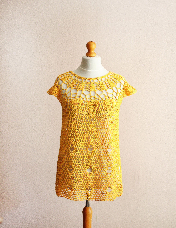 size XL. Sunny yellow cotton blouse