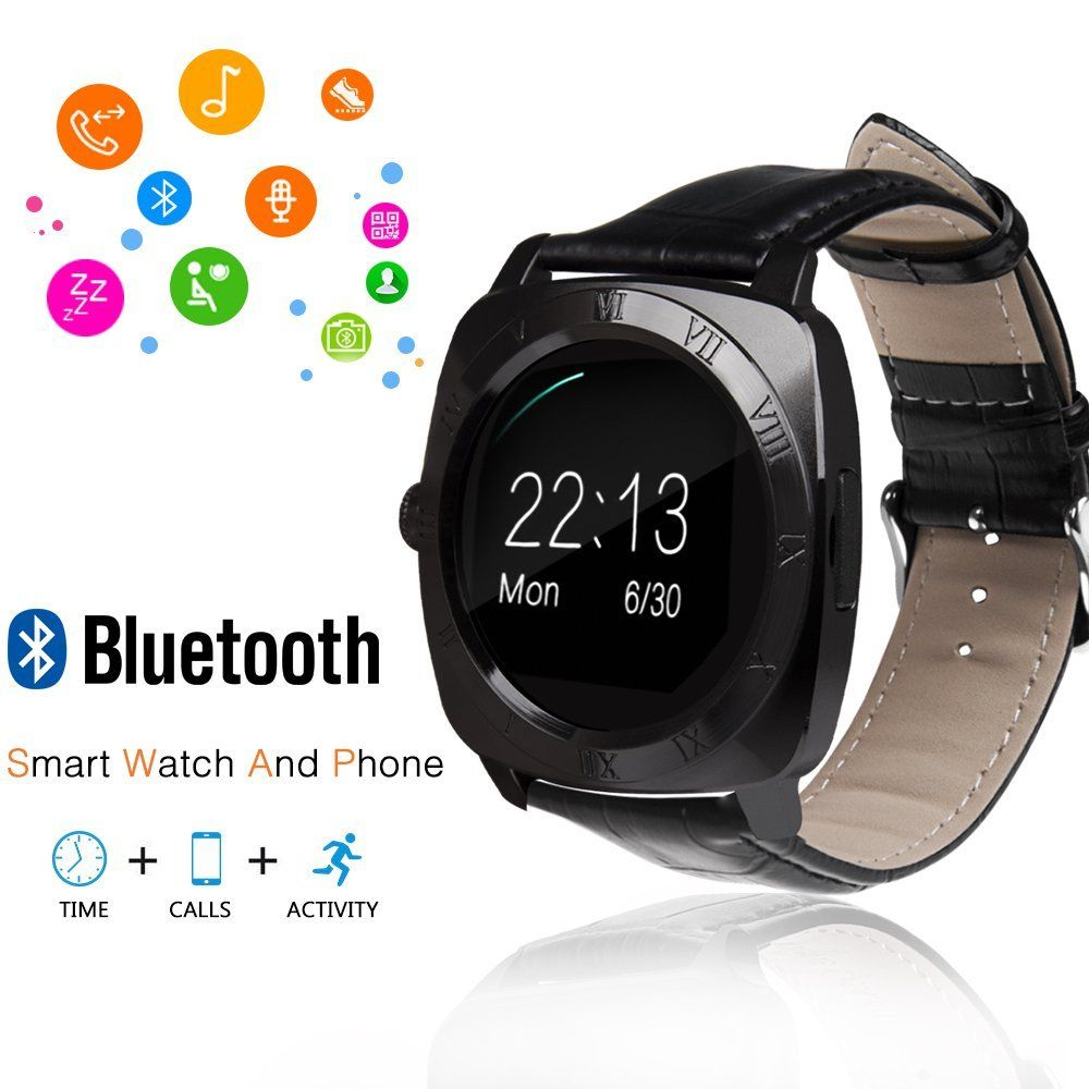 JoyGeek Smart Watch Round Bluetooth Watch Wristwatch Phone