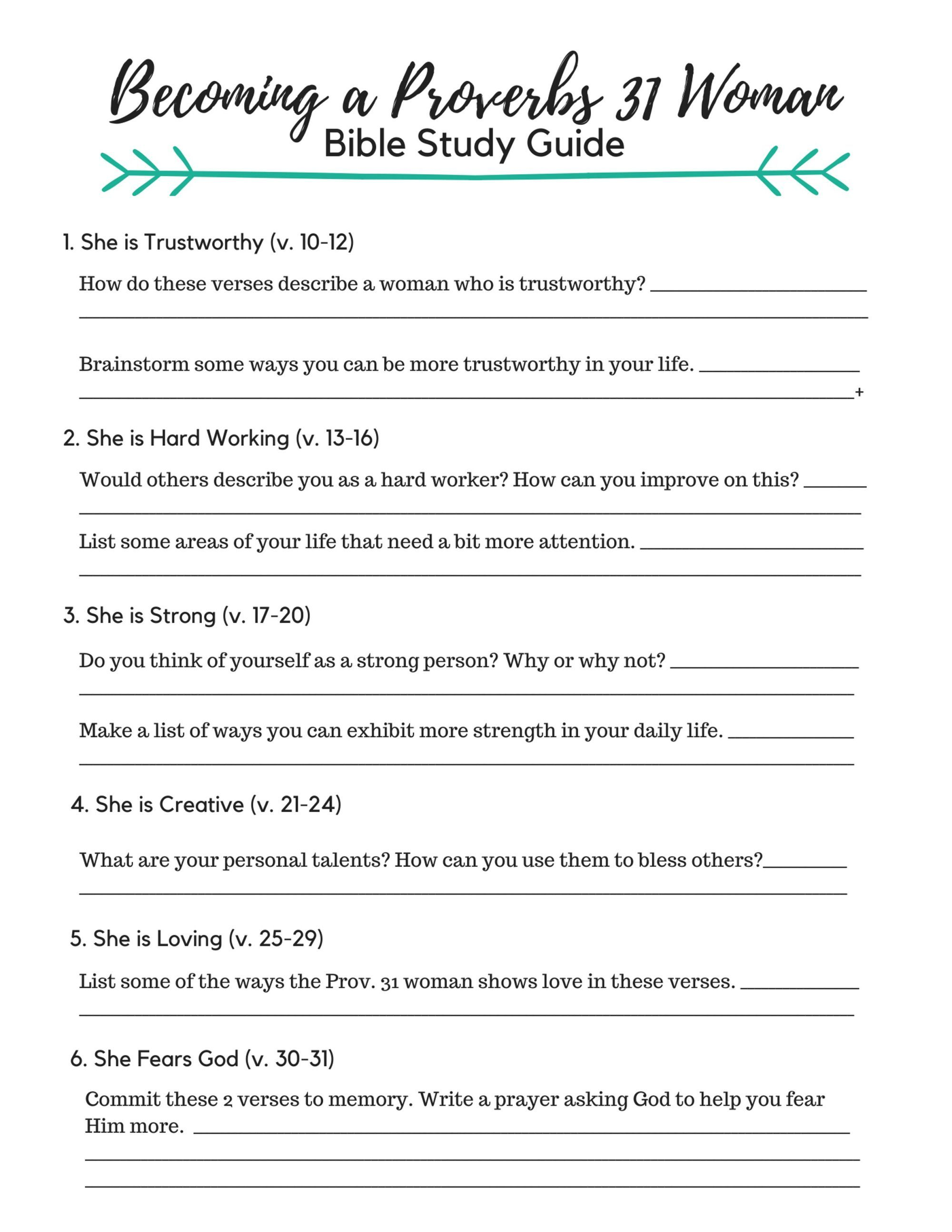 image about Printable Women's Bible Study Lessons Free known as By yourself CAN Be a Proverbs 31 Female - Its A lot easier Than Yourself Believe