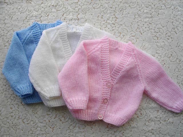 1. Micro Preemie-3 Months Classic Raglan Cardigan pattern ...