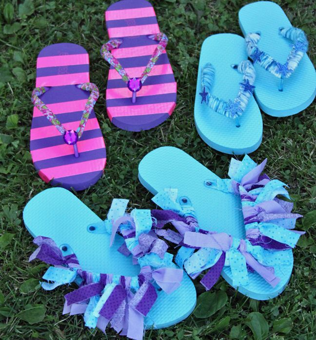 ba9470e92aa688 Sleepover Activity  3 Fun Flip Flop Decorating Ideas