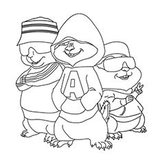 top 25 free printable alvin and the chipmunks coloring pages online - Theodore Chipmunk Coloring Pages