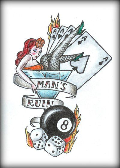 dfbffd3da Man's Ruin - tattoo design by mortar-girl.deviantart.com on @DeviantArt