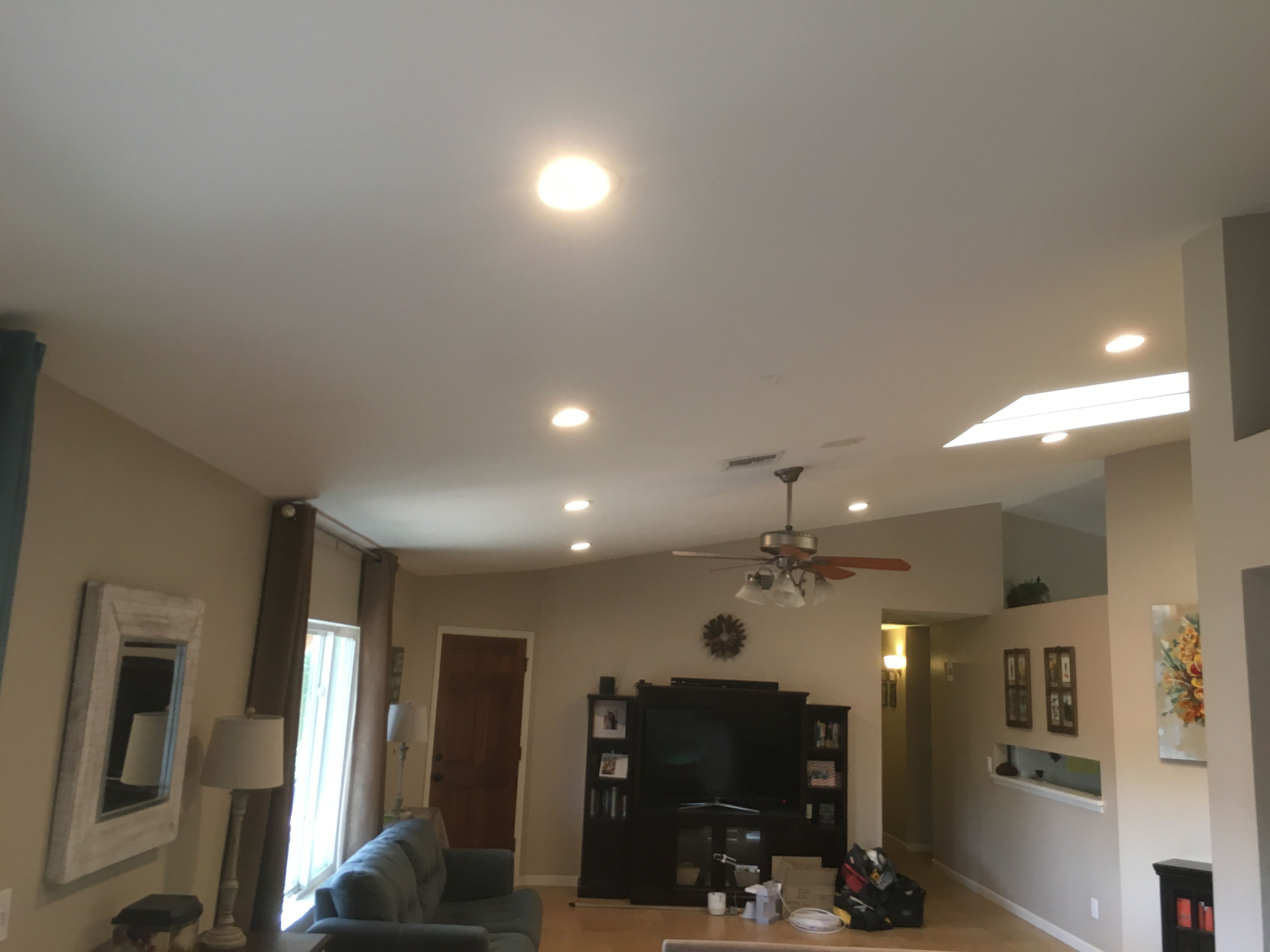 Installed 10 6 Inch Recessed Lighting And A Dimmer