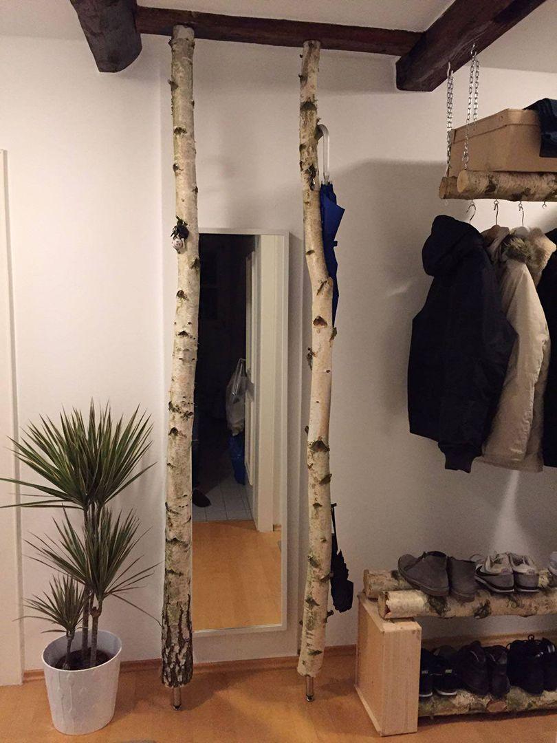 Birkenstamme Garderobe Birke Birke Holz Zimmerdekoration