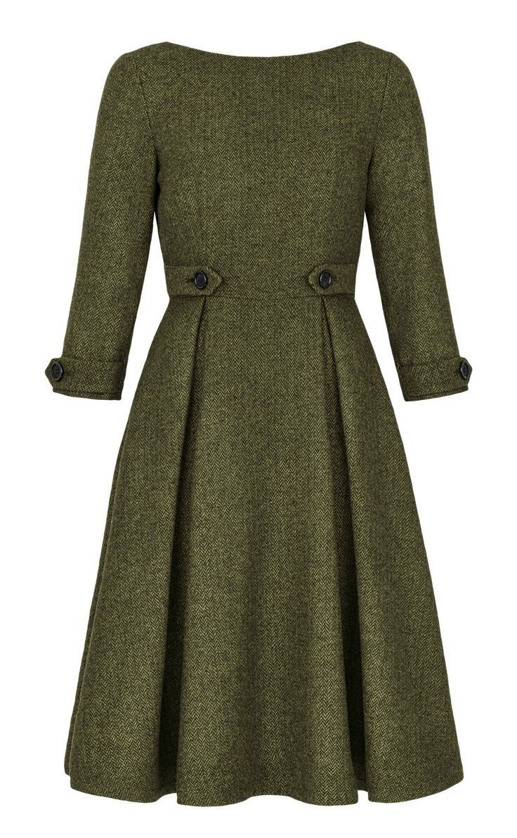 gracy q - viktoria dress - green - front - - dress? front