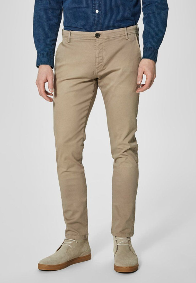 Selected Homme Chino - sand - ZALANDO.FR