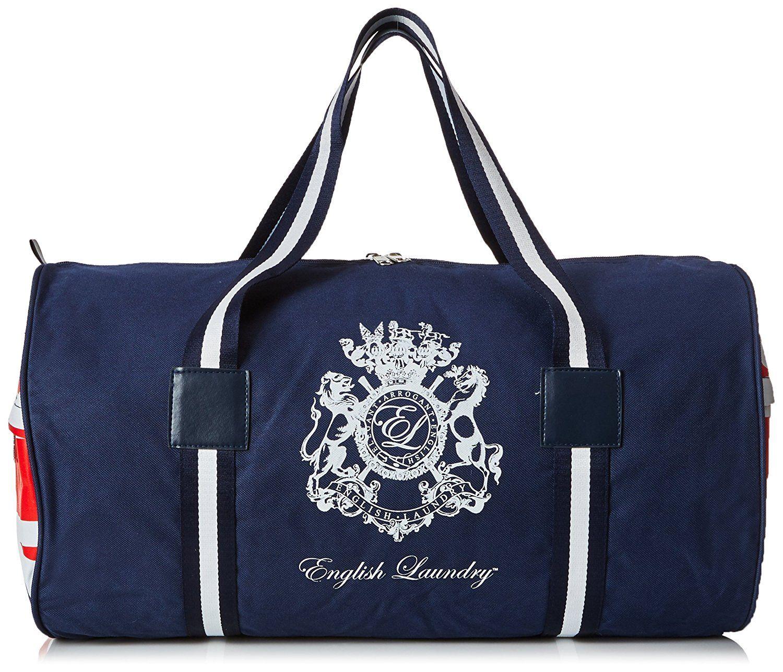 English Laundry Union Jack Men\'s Duffle Bag, Navy Blue, 0.5 lb ...