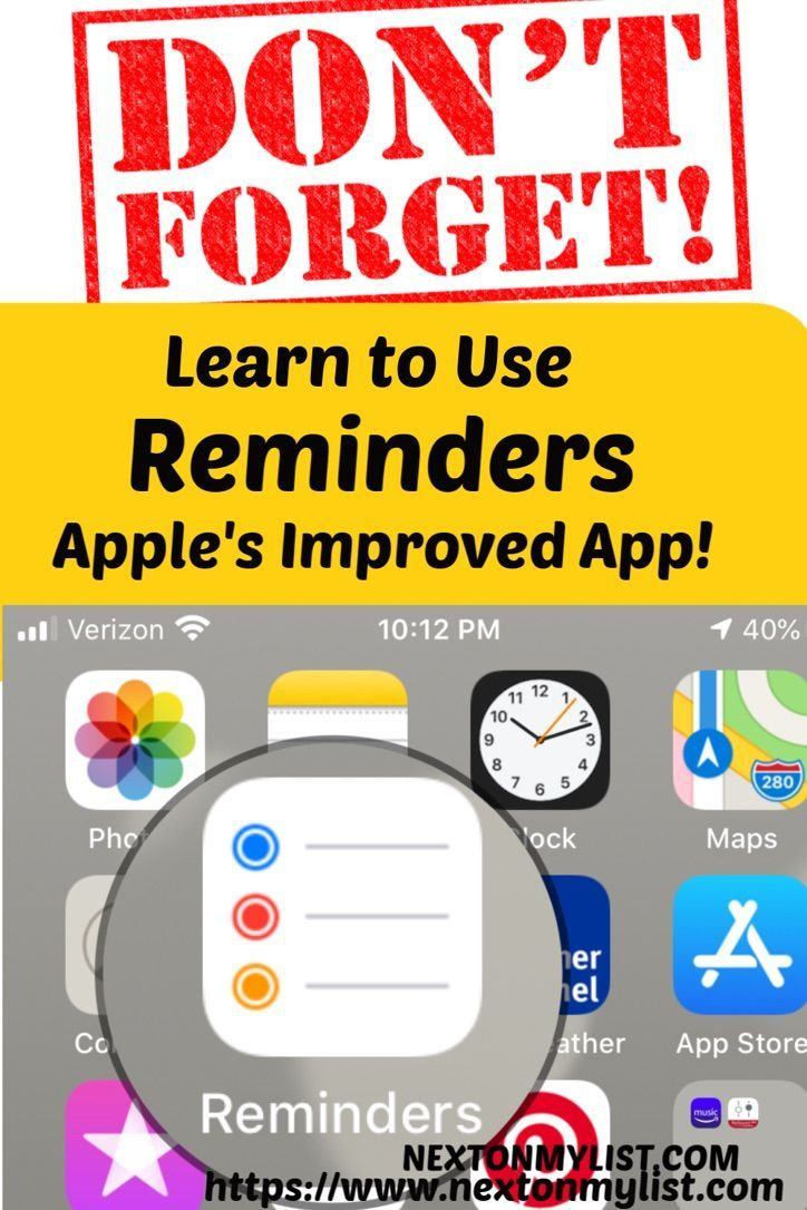 How to Easily Organize Your Life With Apple's Reminders