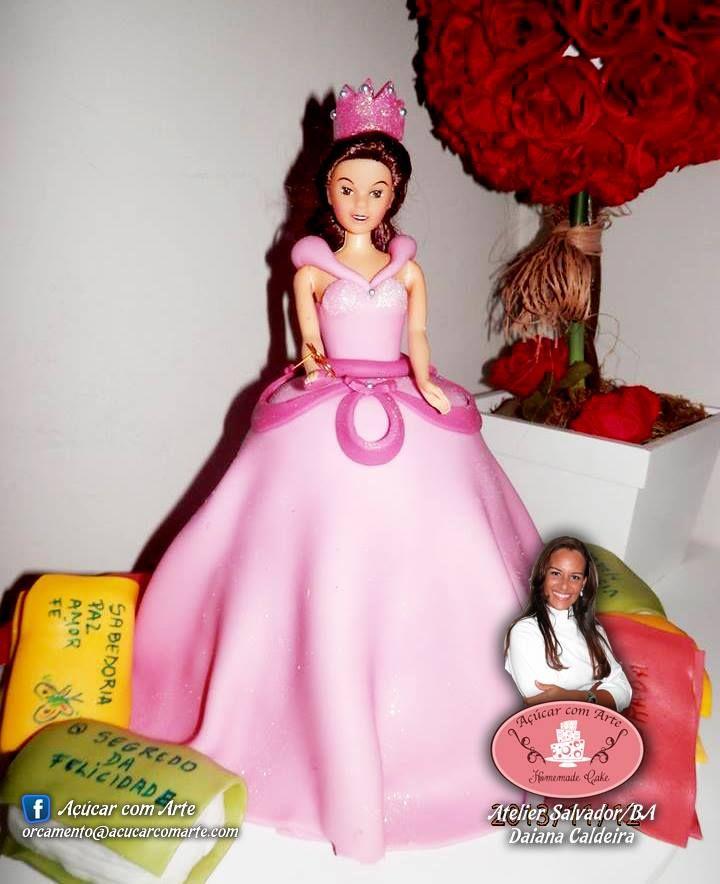 Bolo boneca princesa
