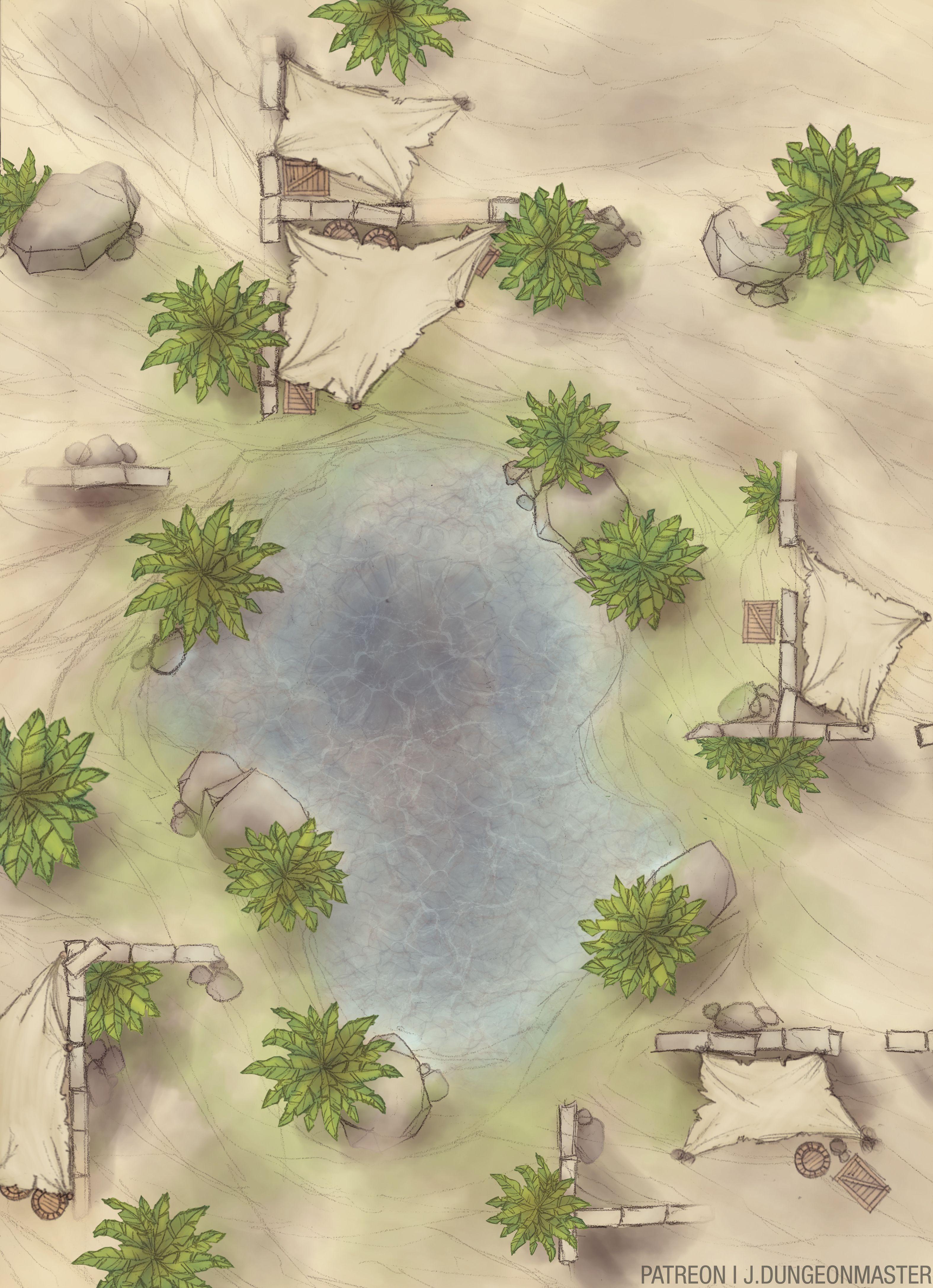Desert Oasis In Halloween 2020 The Desert Oasis | J.Dungeonmaster on Patreon in 2020 | Desert map