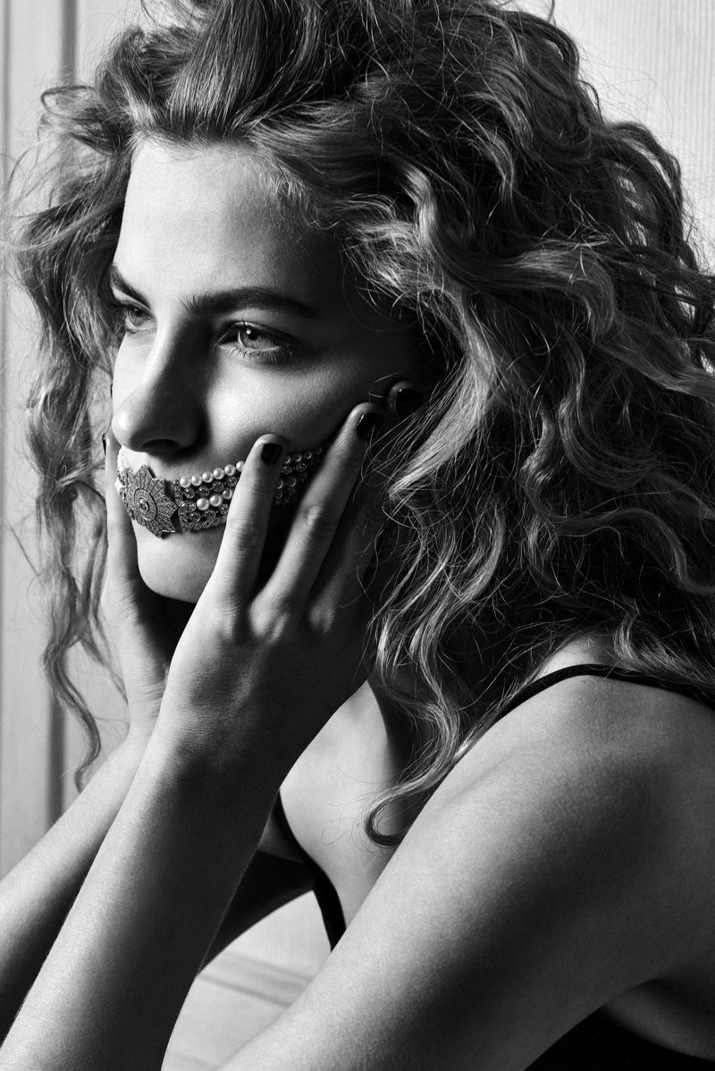 Photo of Felice Noordhoff Sparkles in Chanel Jewelry for Mirror Mirror –  Philippe Vogele…
