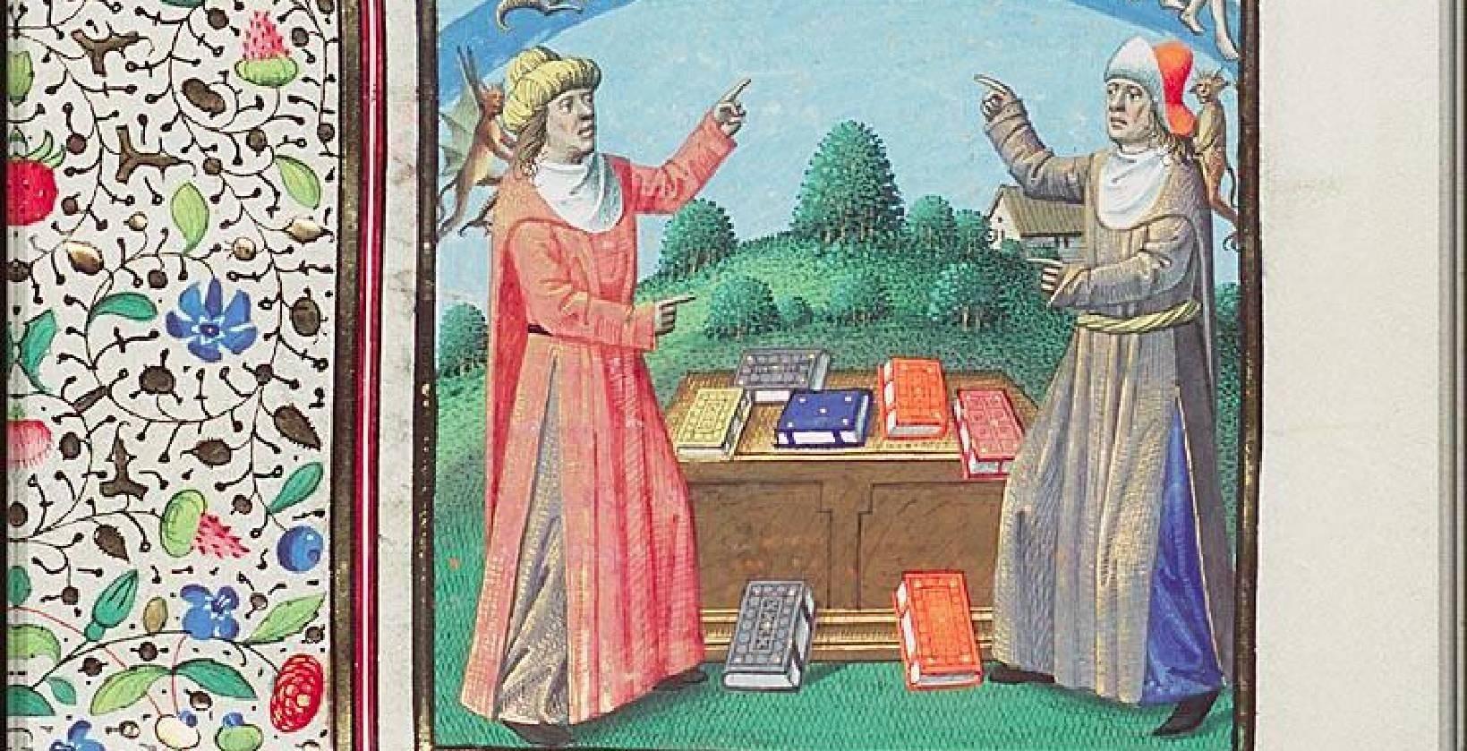 Image result for medieval manuscript plotinus