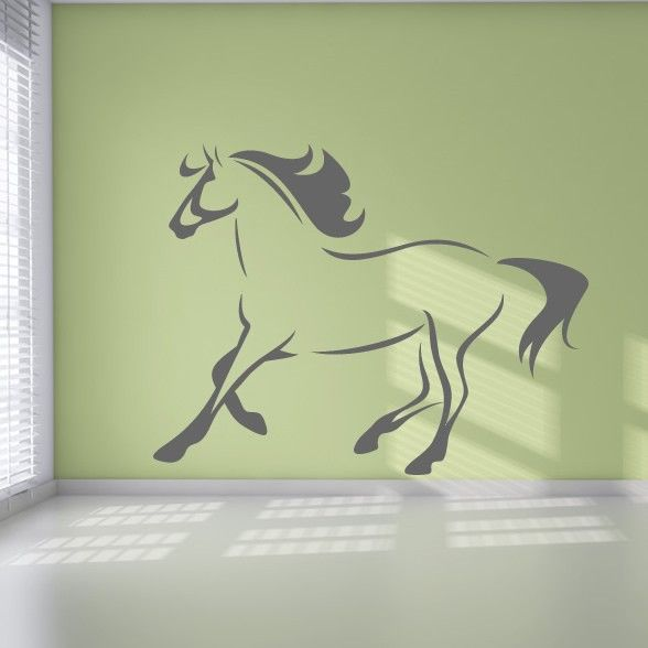 Horse Outline Running Animals Wall Art Decal Wall Stickers | -home ...