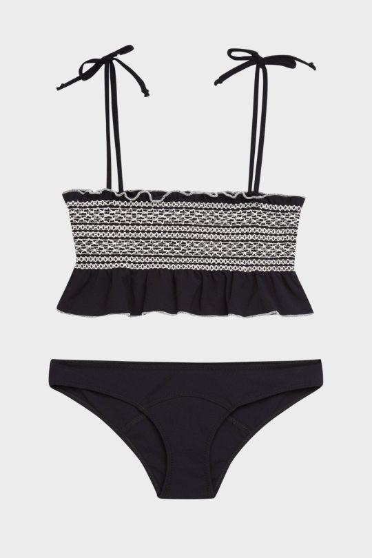 dc456a51e2 Lisa Marie Fernandez Selena Ruffled Smocked Bandeau Bikini - Beach and  Swimwear - Clothing - Women