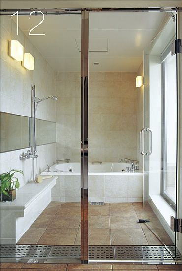 I Want A Bathroom Sort Of Like This Where The Drain Surrounds The