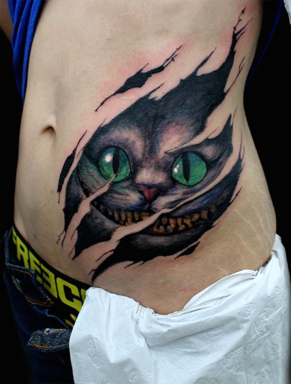Cheshire Cat Die Grinsekatze Color Grinsekatze Tattoo