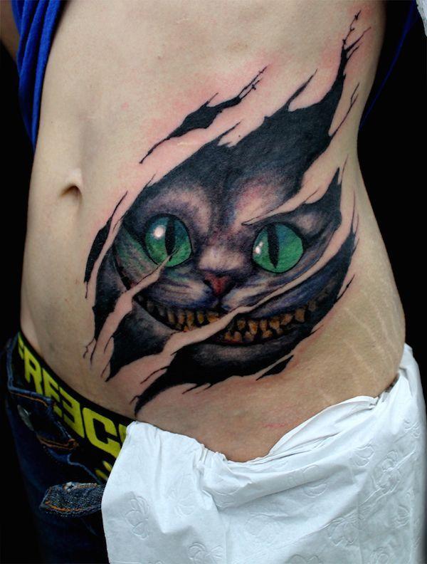 cheshire cat die grinsekatze tattoo ideen grinsekatze und tattoo vorlagen. Black Bedroom Furniture Sets. Home Design Ideas
