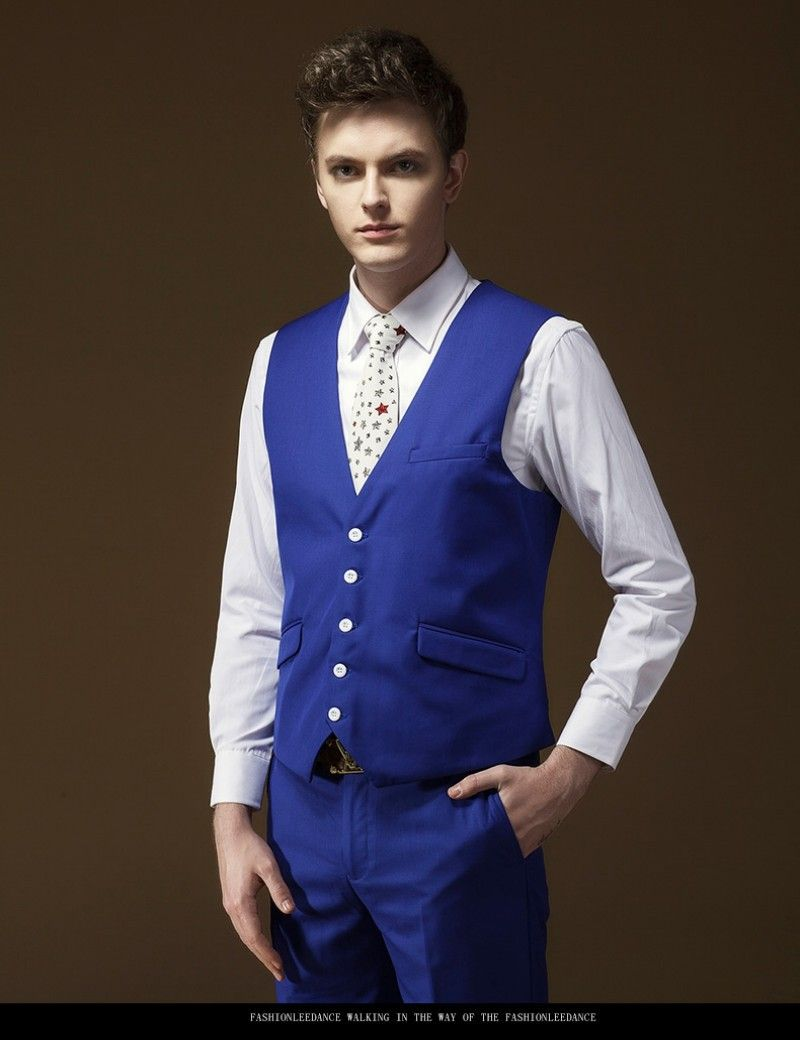 Royal-Blue-Handsome-One-Button-Groom-Tuxedos-Best-Man-Suit-Wedding ...