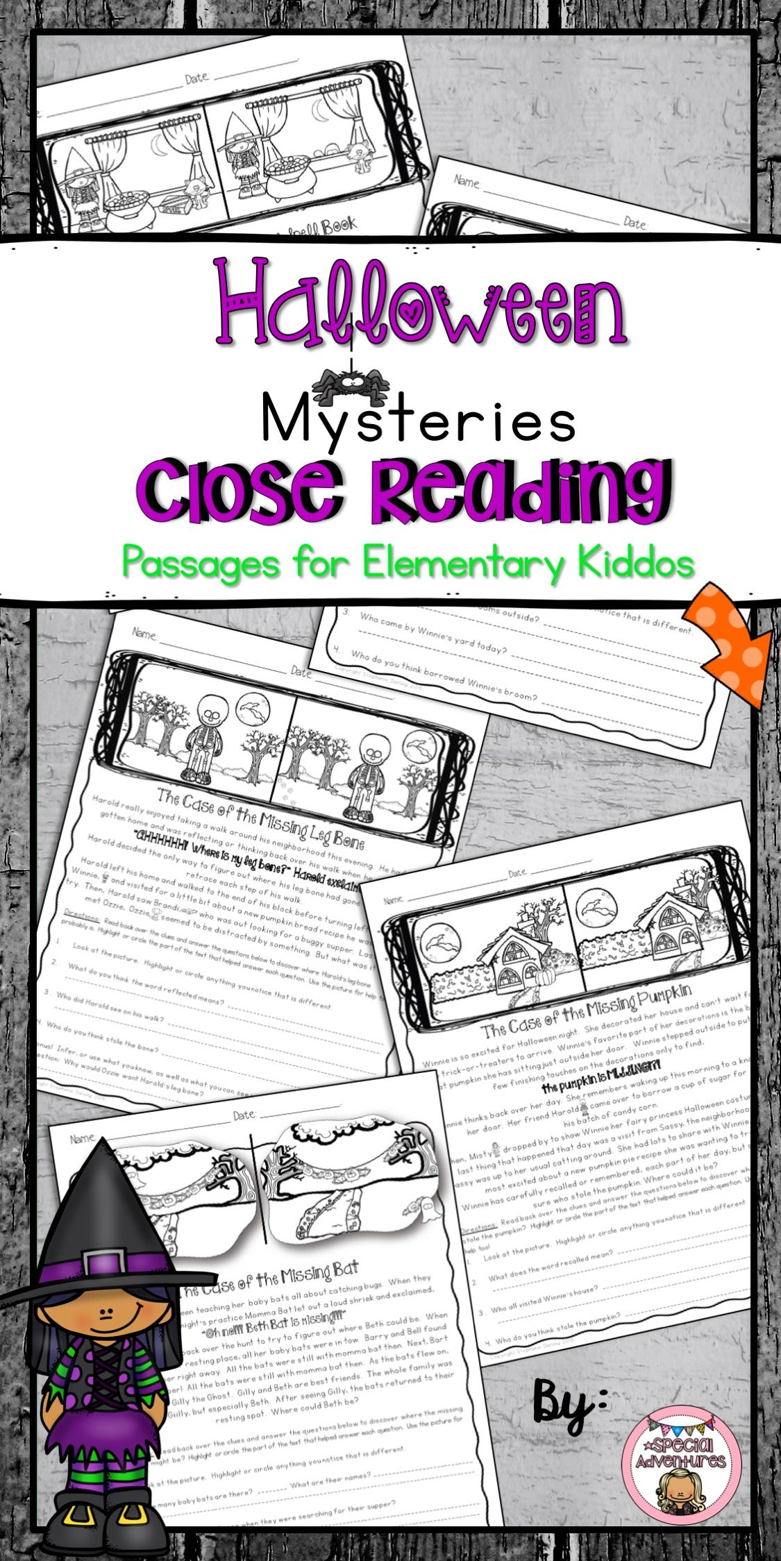 Halloween Close Reading Passages For Comprehension