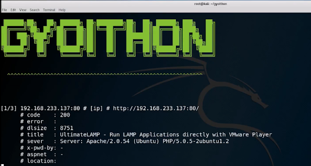 GyoiThon - A Growing Penetration Test Tool Using Machine