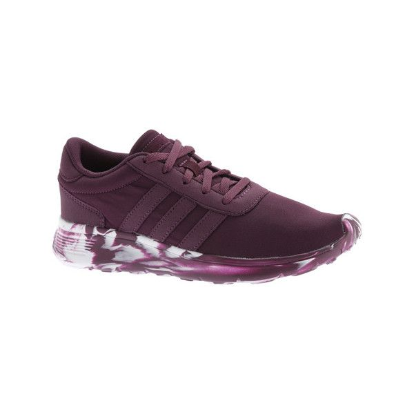 detailed look 3753d 49ee6 Women s adidas NEO Lite Racer Sneaker - Merlot Merlot White Athletic ( 65)  ❤ liked on Polyvore featuring shoes, sneakers, white trainers, adidas  sneakers, ...