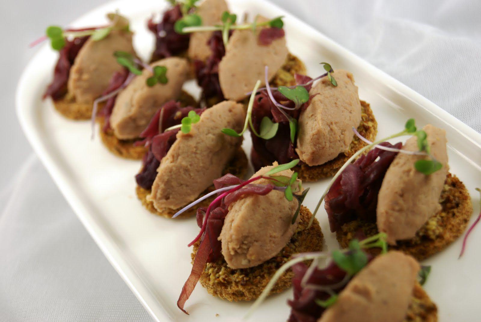 Canape: Duck Rillette & Cherry Crostini - duck mousse ...