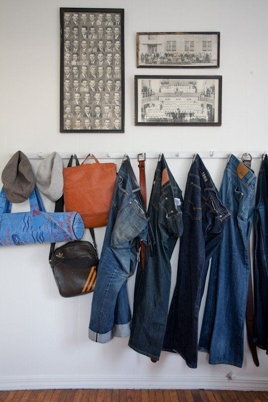 Hang Clothes On Wall living without: closets — small space solutions   closet small