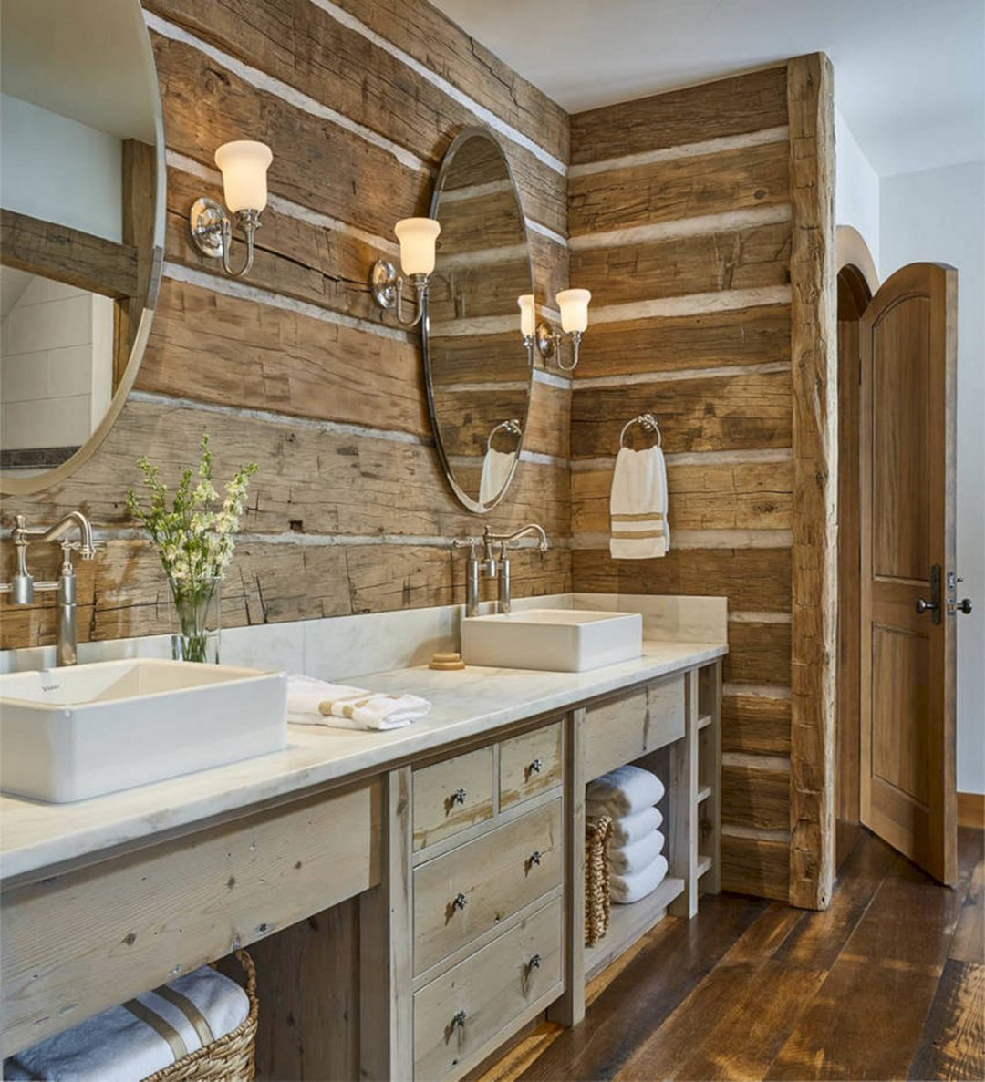 10 Incredible Rustic Bathroom Decoration With Wall Stone Ideas Dexorate Rustic Bathrooms Rustic Bathroom Designs Rustic Bathroom Wall Decor