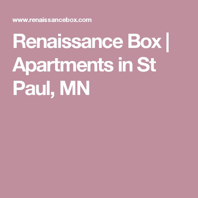 Renaissance Box Apartments In St Paul Mn