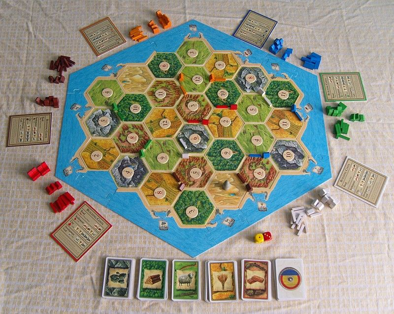 basic with extention board Settlers of Catan 5 6 player