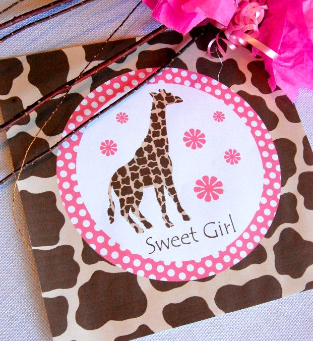 Giraffe Full Printable Party Decor For Birthday Or Baby Shower Diy