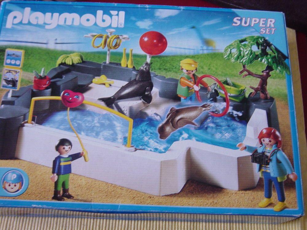 Vintage Playmobil Super Set 3135 Aquarium Zoo Seal Poll Playset