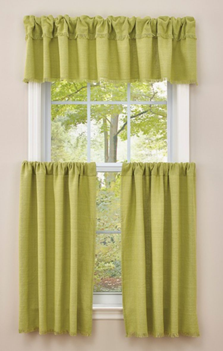 Crawford Curtains By Park Designs Features A Woven Pattern Use Two Times Your Window Width In Fabric Valance Window Treatments Curtains Wide Windows