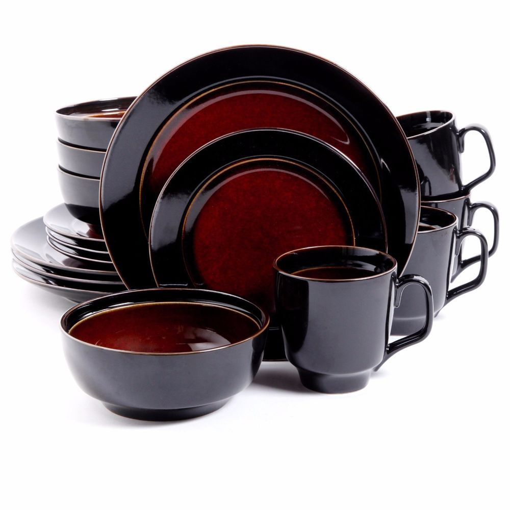 16 Pc Dinnerware Set Dinner Plates Mugs Dishes Bowls Kitchen