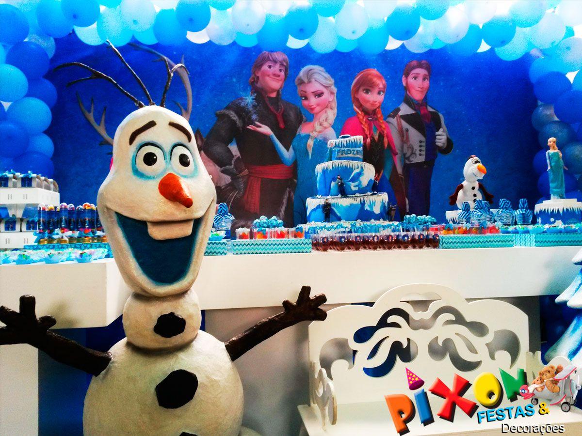 Decoração Frozen #frozen #festafrozen #decoracaofrozen #olaf