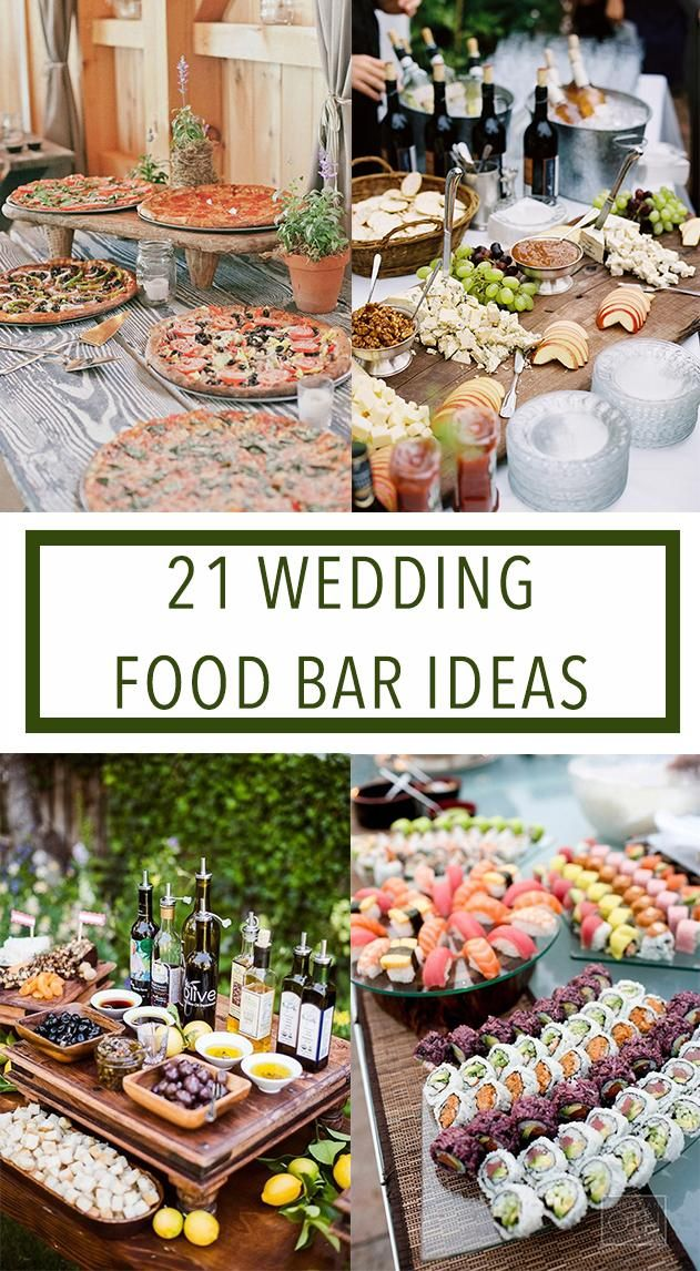 Food Bar Ideas for Your Wedding Food bars Bar and Wedding